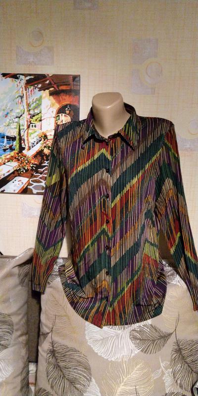 Полосатая блуза вискоза