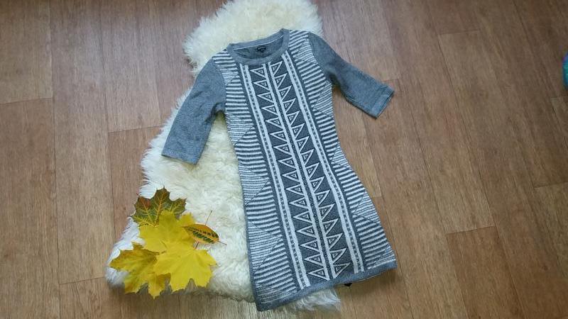 Платье-туника с люрексом машинная вязка