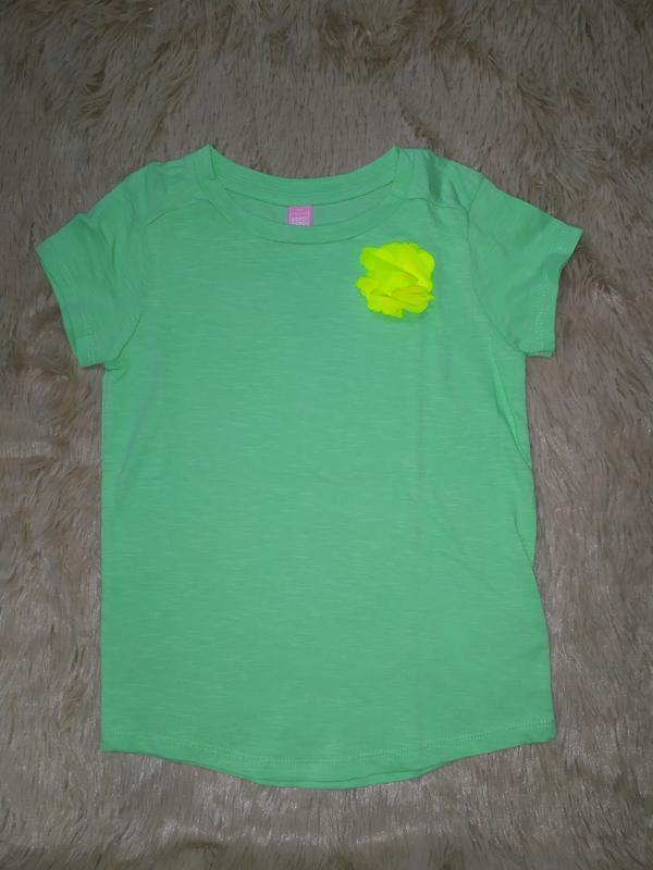 Красивая футболка мятного цвета из натурального хлопка