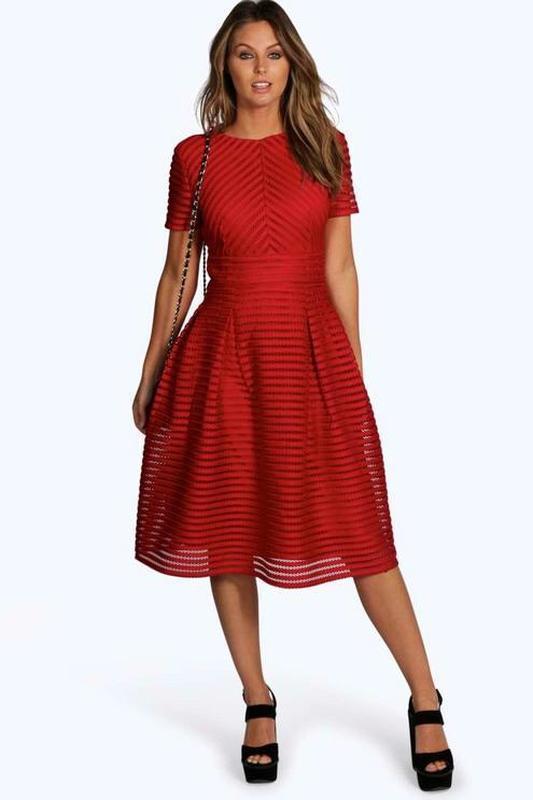 Платье миди ажурное цвета марсала вечернее коктейльное нарядно...