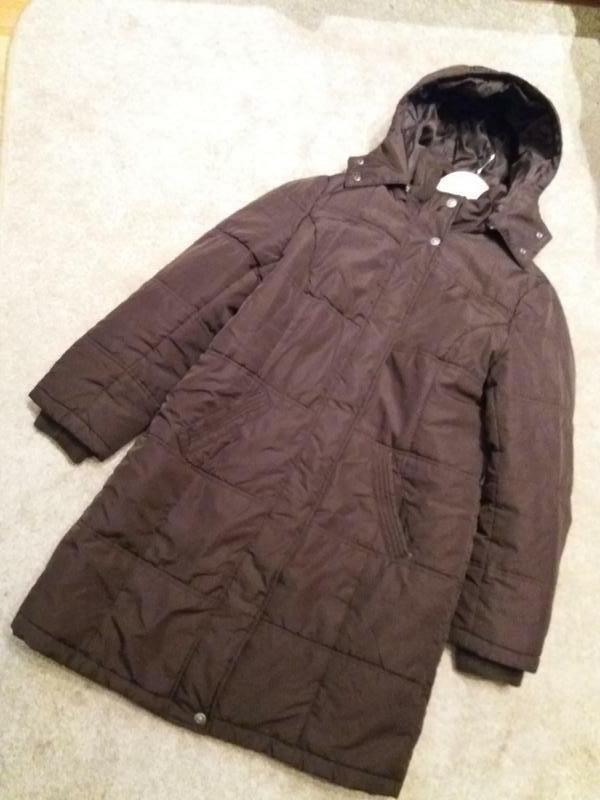Женское утепленное пальто с капюшоном..-14р на 48\50р