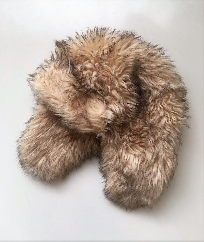 Пухнаста хутряна шапка-вушанка one size