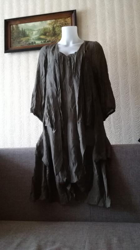 Платье оверсайз балахон свободного кроя размер м