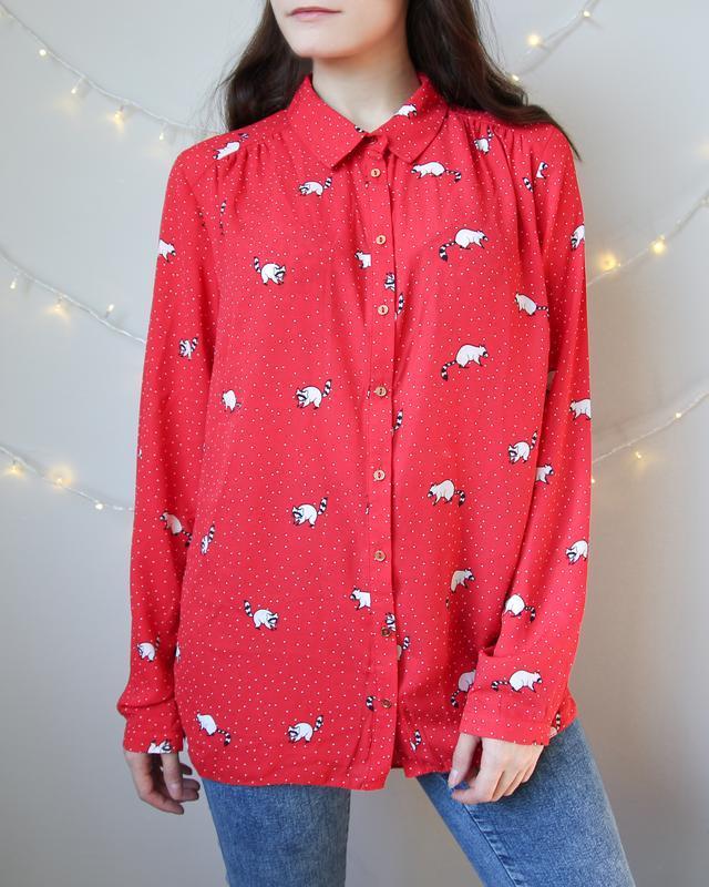 Новогодняя блузка с енотом от george