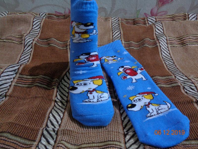 Махровые женские носки новогодние. качество. несколько расцветок