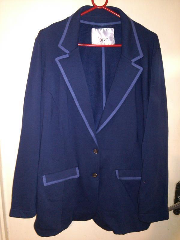Классный,трикотажный пиджак-жакет с карманами,большого 22-26рр...