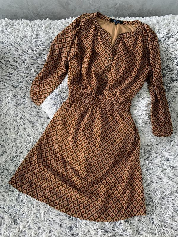 Стильное платье в милый принт