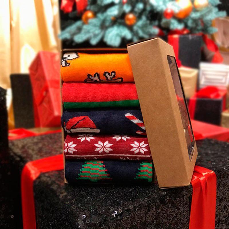 Набор носочков, the pait of socks, из 5 пар christmas box