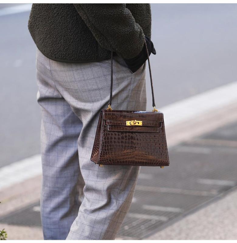 Винтаж,маленька сумочка в стиле hermes kelly,код.зам под репти...