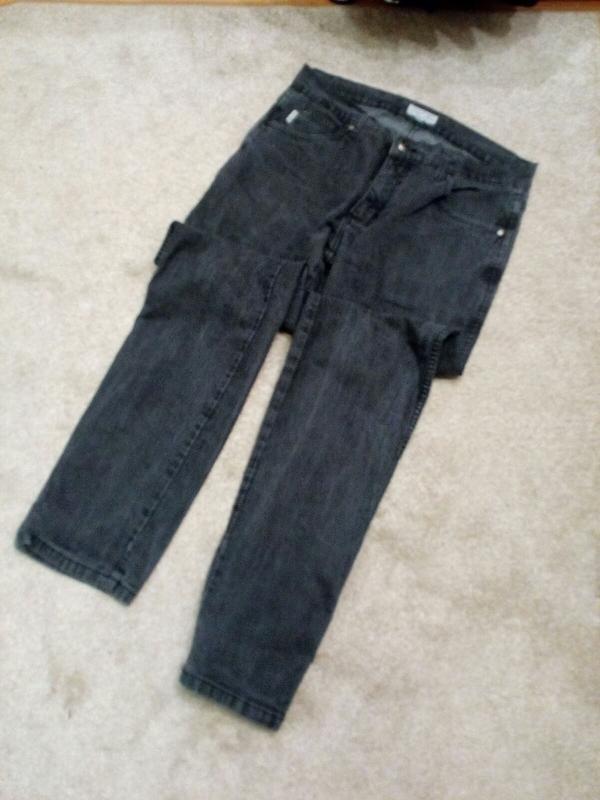 Мужские брюки джинсы black blue 36/34р