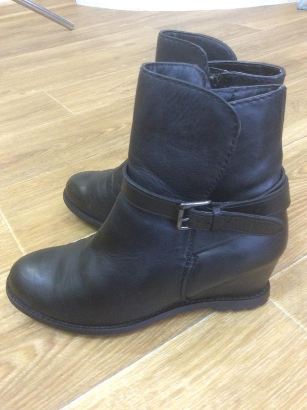 Ботиночки чёрные кожаные