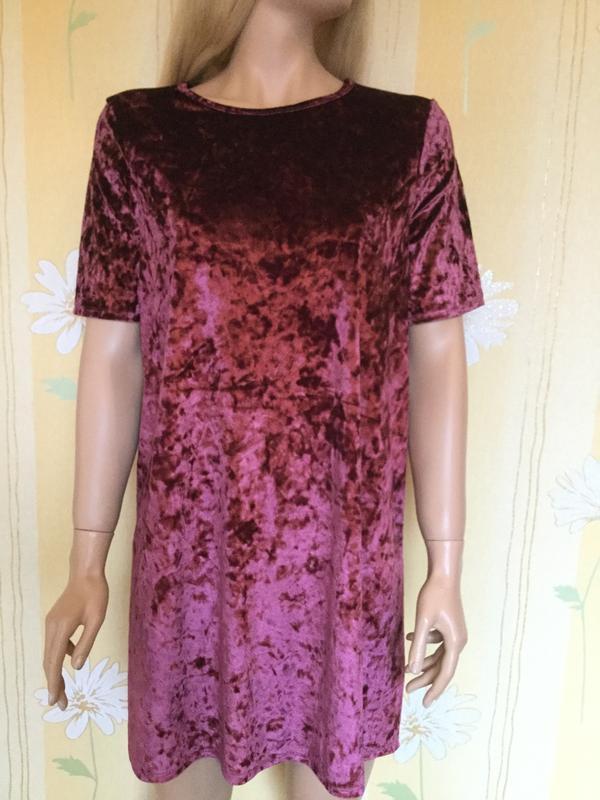 Платье бархатное george 12 размер