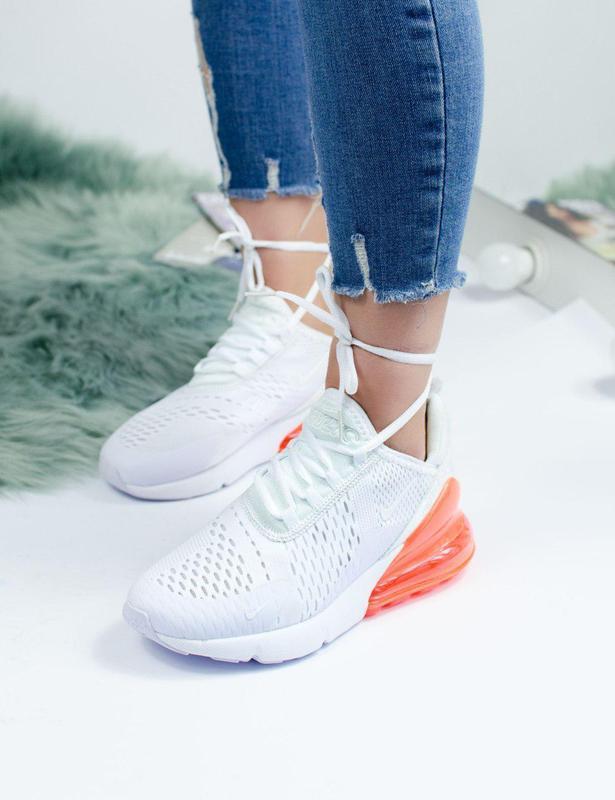 Новинка! женские кроссовки nike в бело-оранжевом цвете (vesna-...
