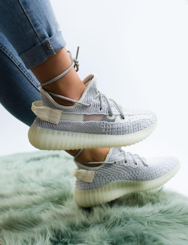 Шикарные женские кроссовки adidas с рефлективом (весна-лето-ос...