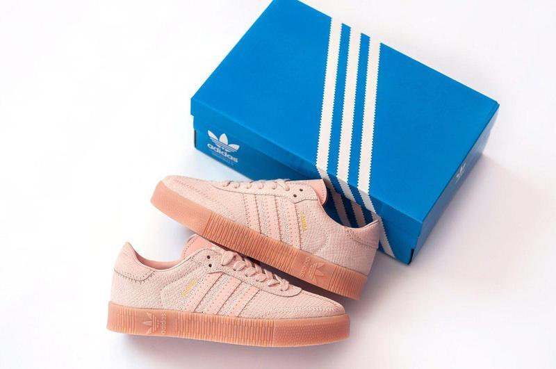 Шикарные замшевые кроссовки adidas в розовом цвете (весна-лето...