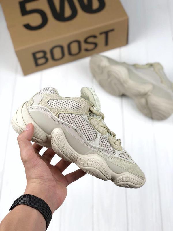 Шикарные кроссовки adidas yeezy в сером цвете с рефлективом (в...
