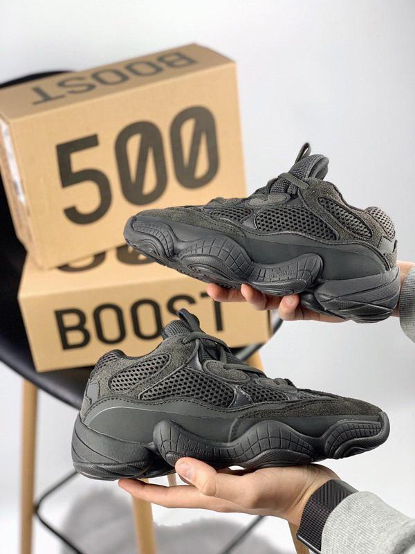 """Шикарные кроссовки """"adidas yeezy 500"""" в черном цвете (весна-ле..."""