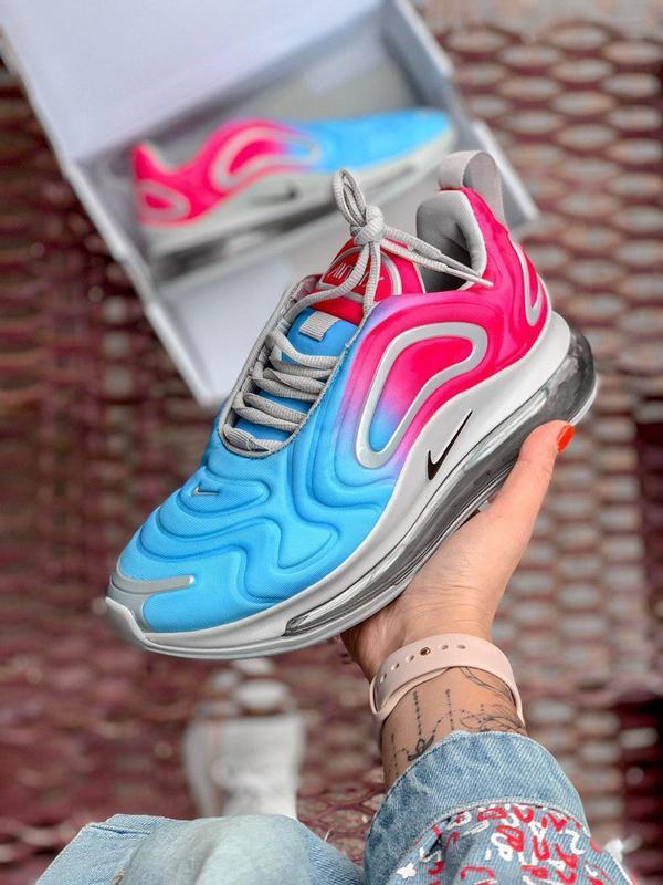 """Стильные женские кроссовки """"nike air max 720"""" в сине-розовом ц..."""