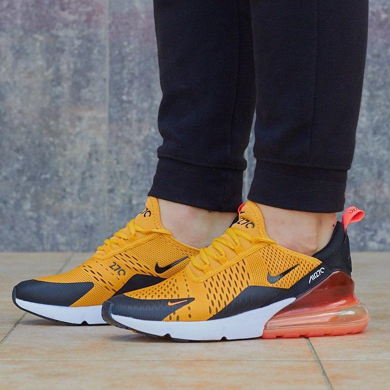 Стильные мужские кроссовки nike air max 270 в оранжевом цвете ...