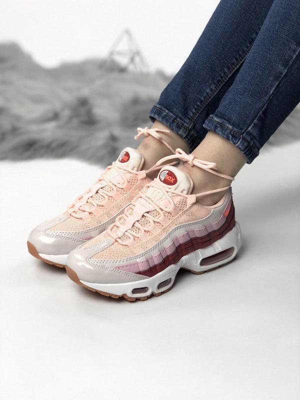 Удобные кроссовки nike air max в розовом цвете (весна-лето-осе...