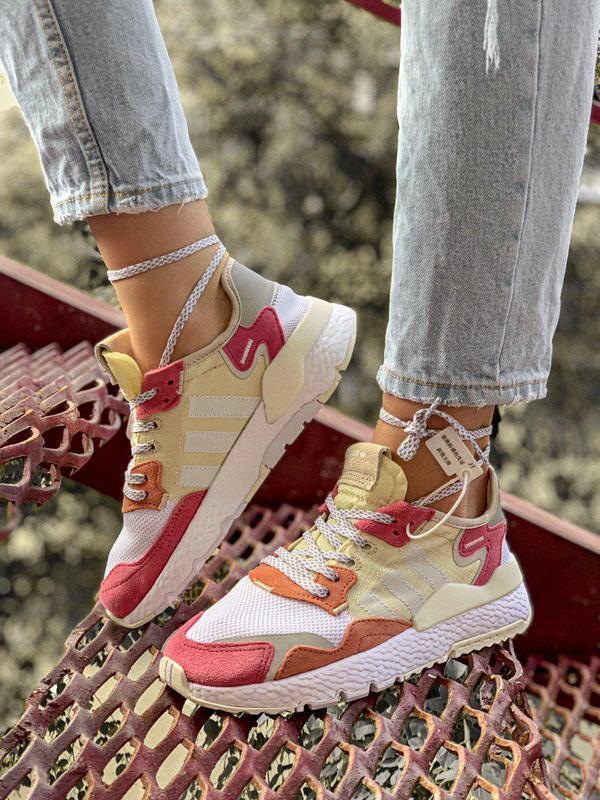Шикарные женские кроссовки adidas nite jogger из замши (весна-...