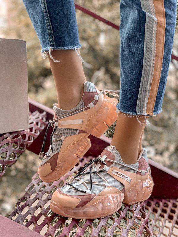 Шикарные женские кроссовки в персиковом цвете (весна-лето-осень)😍