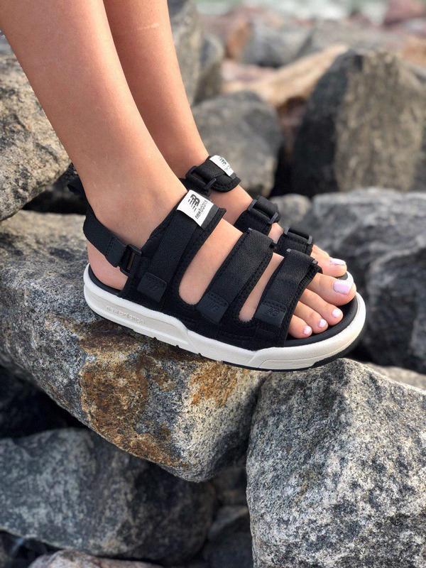 Стильные женские сандалии в черном цвете new balance (весна-ле...