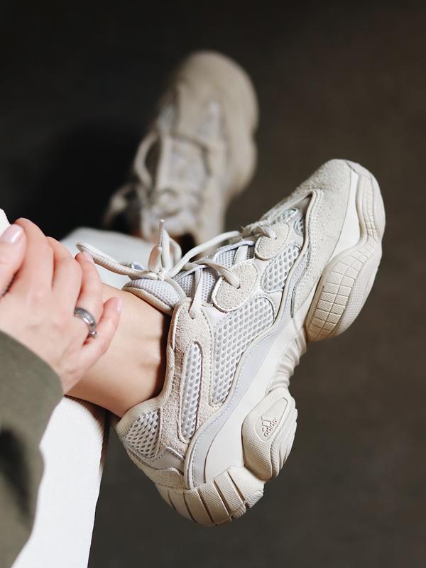 Стильные кроссовки adidas yeezy 500 в сером цвете (весна-лето-...