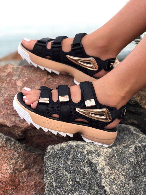Стильные женские сандалии fila в крутом дизайне (весна-лето-ос...