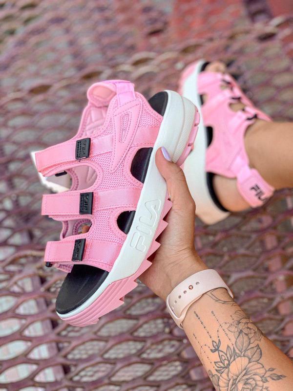 Шикарные женские сандалии в розовом цвете (весна-лето-осень)😍