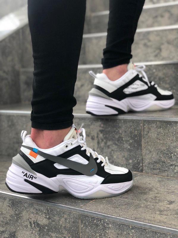 Удобные мужские кроссовки nike в бело-черном цвете (весна-лето...