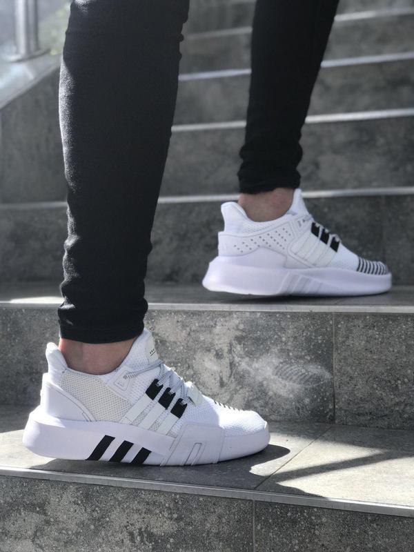 Стильные мужские кроссовки adidas в белом цвете (весна-лето-ос...