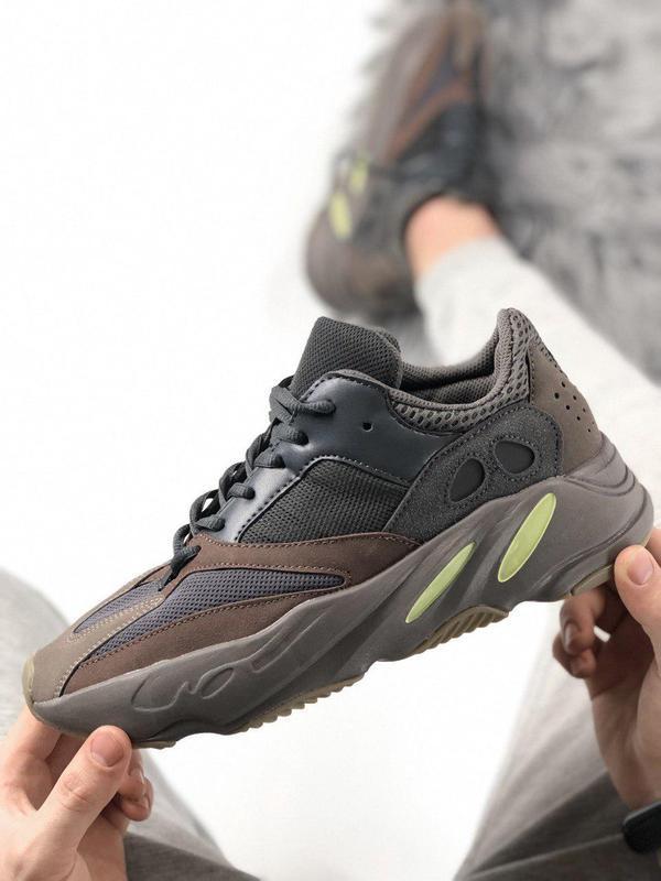 Стильные мужские кроссовки adidas в черном цвете (весна-лето-о...