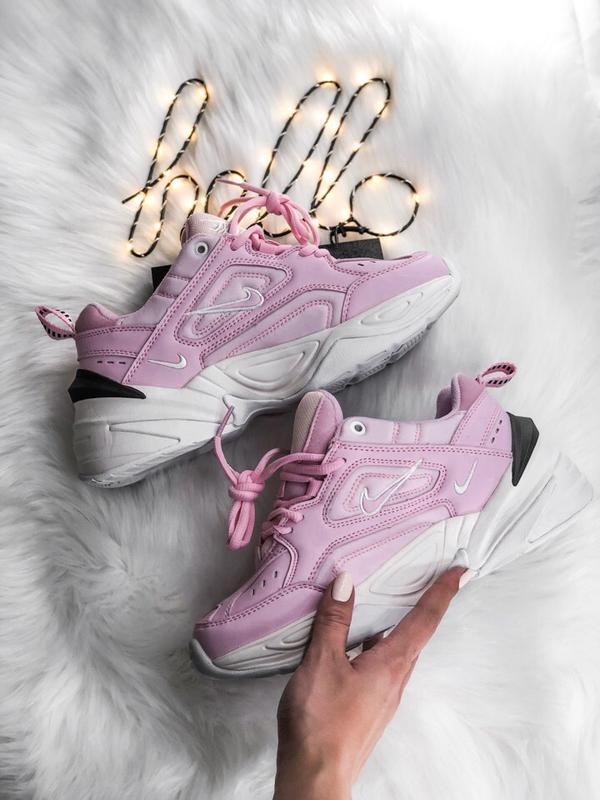 Распродажа🔥 красивые женские кроссовки nike m2k в розовом цвет...