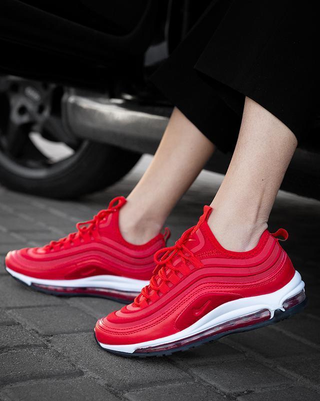 Ярко-красные кроссовки nike 97 aie max (весна-лето-осень)😍