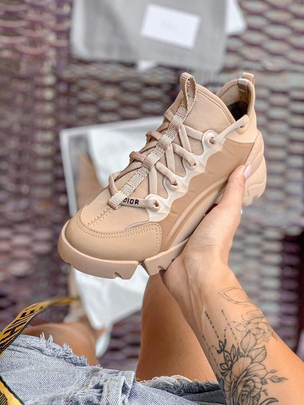 Стильные дизайнерские кроссовки из кожи (весна-лето-осень)😍