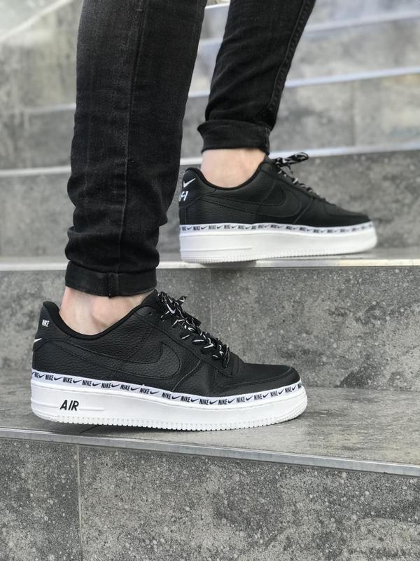 Шикарные кроссовки nike air force в черном цвете (весна-лето-о...