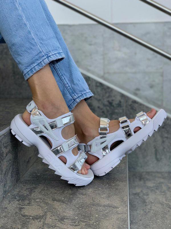 Стильные женские сандалии fila в белом цвете (весна-лето-осень)😍