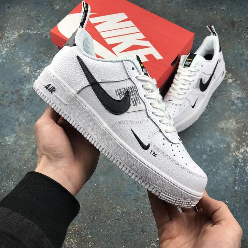 Шикарные кроссовки nike air force 1 в белом цвете (весна-лето-...