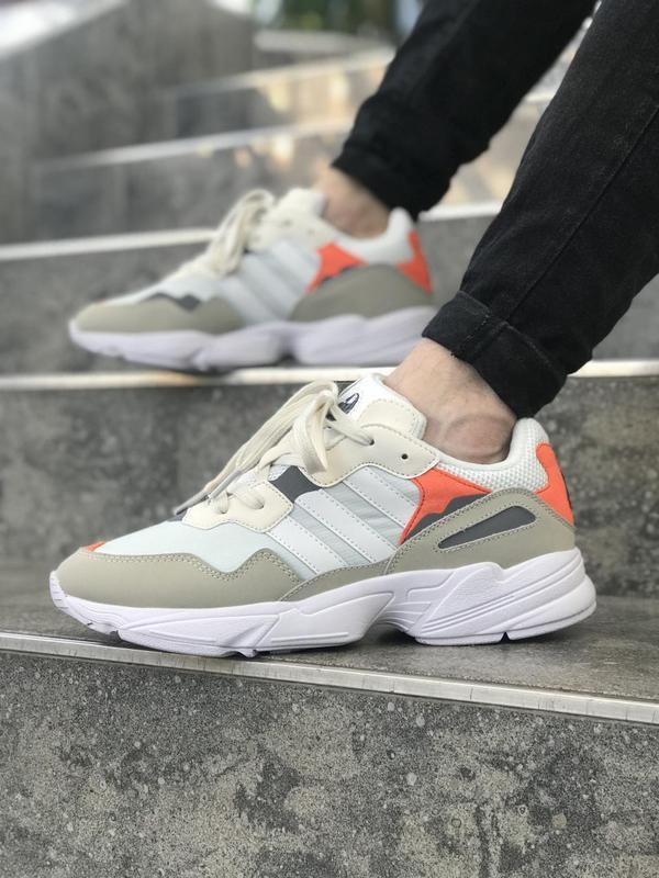 Красивые мужские кроссовки adidas в белом цвете (весна-лето-ос...