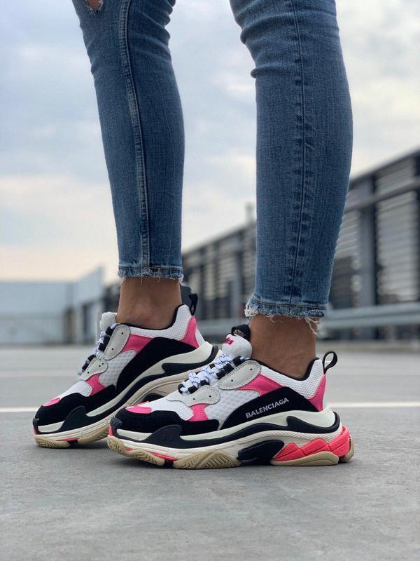 Шикарные массивные женские кроссовки в розовом цвете (весна-ле...