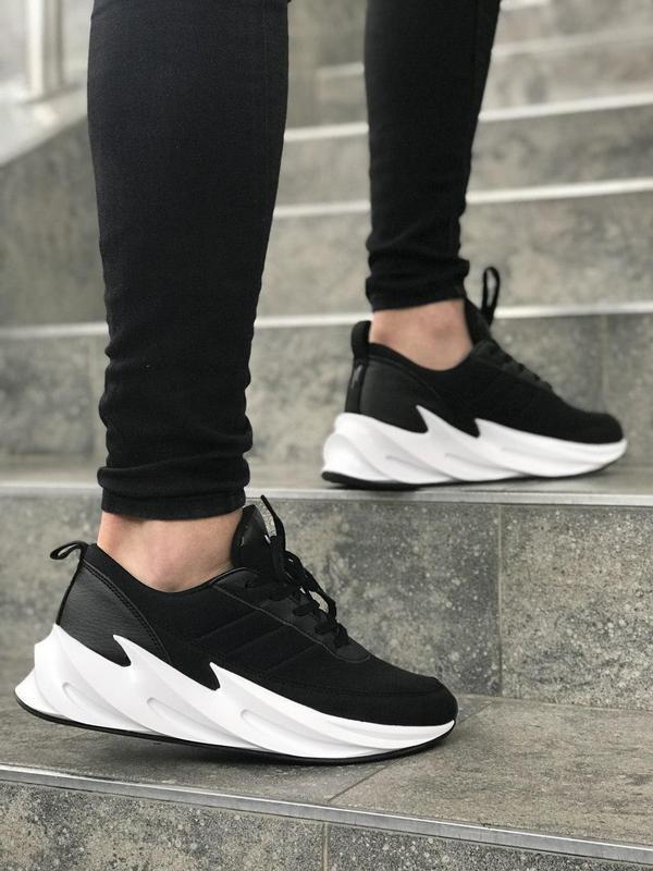 Стильные и удобные кроссовки adidas sharks в черном цвете (вес...