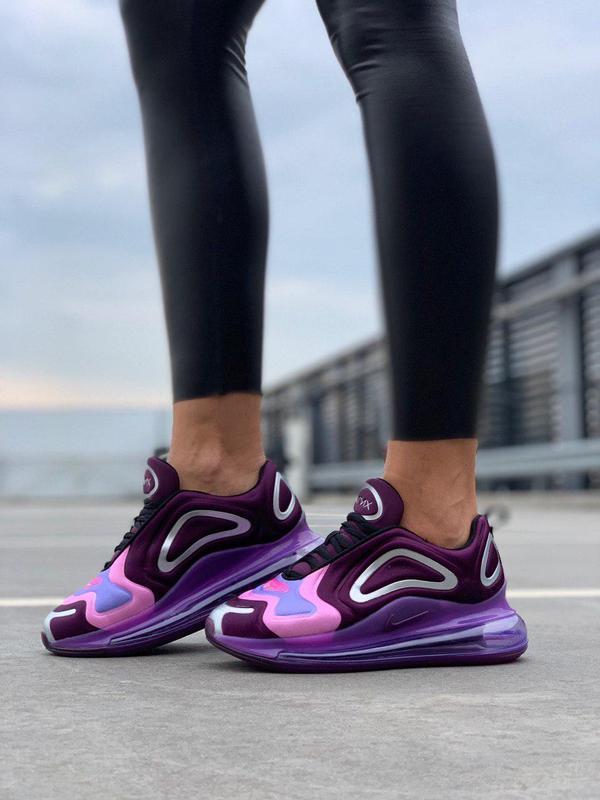 Стильные кроссовки nike air max 720  в фиолетовом цвете (весна...