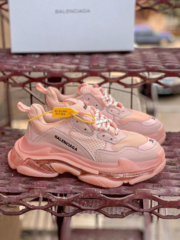 Полностью розовые женские массивные кроссовки (весна-лето-осень)😍
