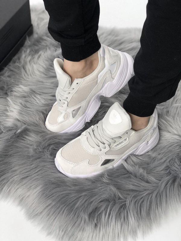 Стильные женские кроссовки adidas falcon (весна-лето-осень)😍