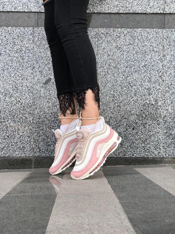 Красивые кроссовки nike 97 в розовом цвете с рефлективом (весн... - Фото 2