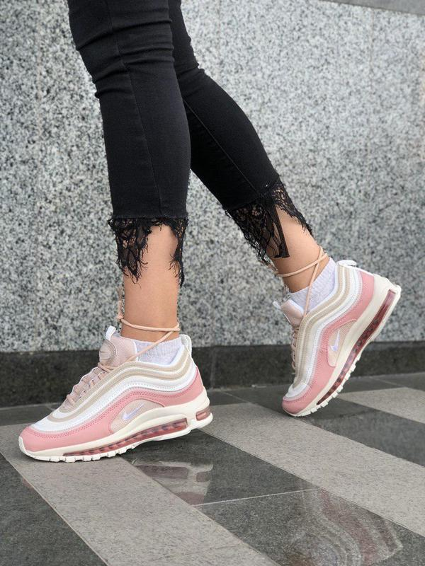 Красивые кроссовки nike 97 в розовом цвете с рефлективом (весн... - Фото 3