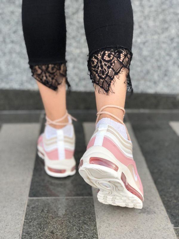 Красивые кроссовки nike 97 в розовом цвете с рефлективом (весн... - Фото 5