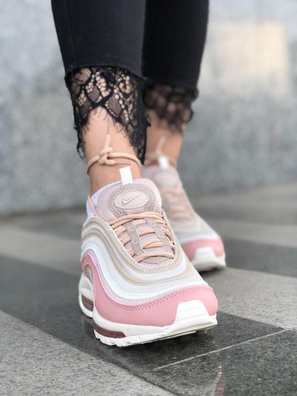 Красивые кроссовки nike 97 в розовом цвете с рефлективом (весн... - Фото 7
