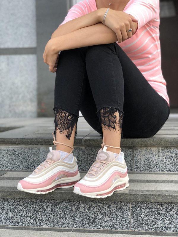 Красивые кроссовки nike 97 в розовом цвете с рефлективом (весн... - Фото 8